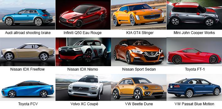 Detroit 2014 Concept Cars